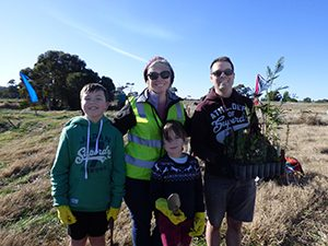 Family at the 2019 Grow West Planting Day